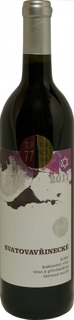 České vinařství Chrámce - Svatovavřinecké košer - Kabinetní víno 2011 - 0,75l (balení 6 lahví)
