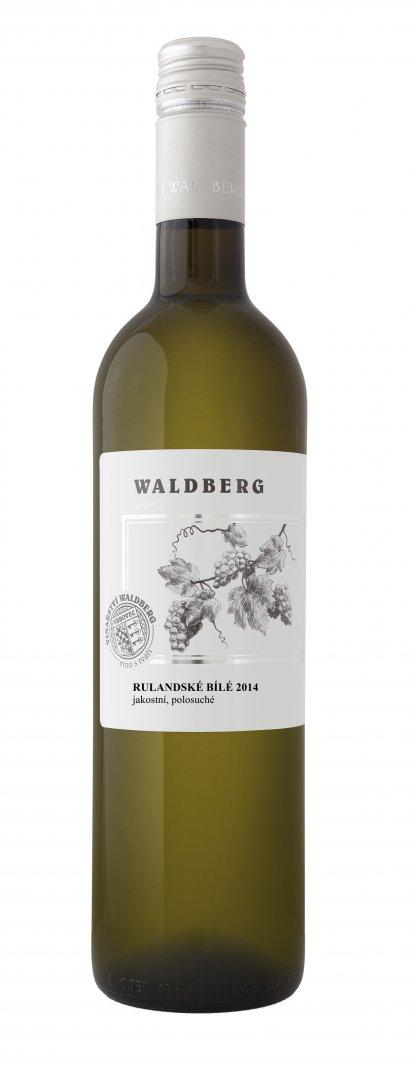 Vinařství Waldberg Vrbovec - Rulandské bílé - Jakostní víno 2014 - 0,75l (balení 6 lahví)