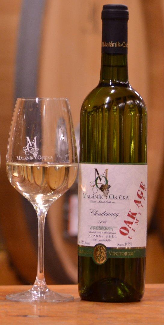 Vinařství Maláník-Osička - Chardonnay - Pozdní sběr 2014 - 0,75l