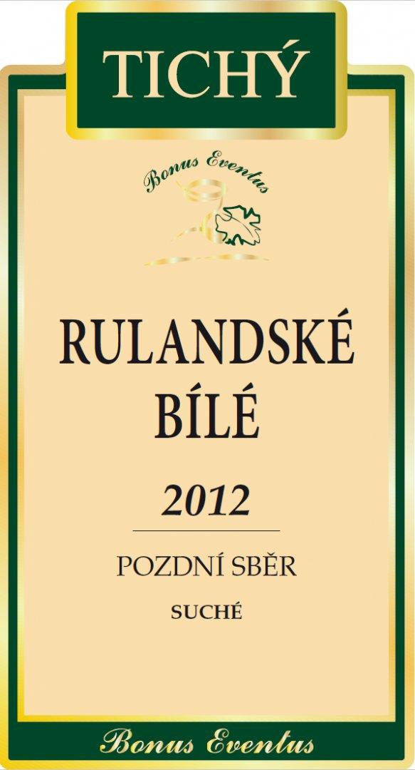 VINO RICHARD - Ing. Richard Tichý - Rulandské bílé - Pozdní sběr 2012 - 0,75l