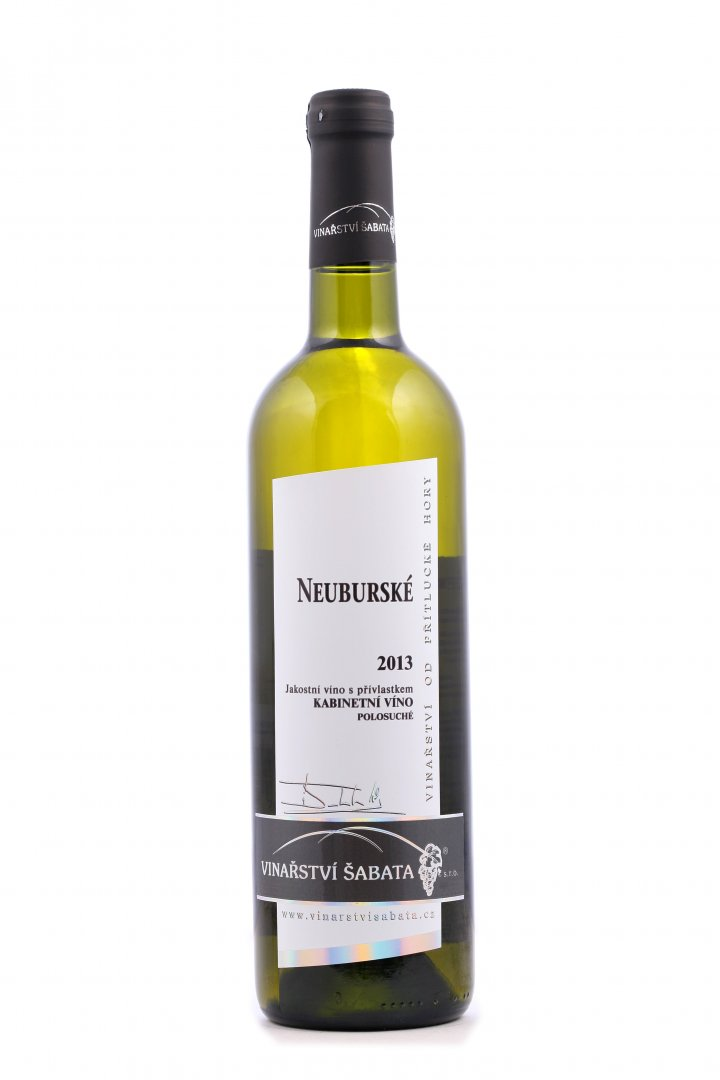 Vinařství Šabata - Neuburské - Kabinetní víno 2013 - 0,75l