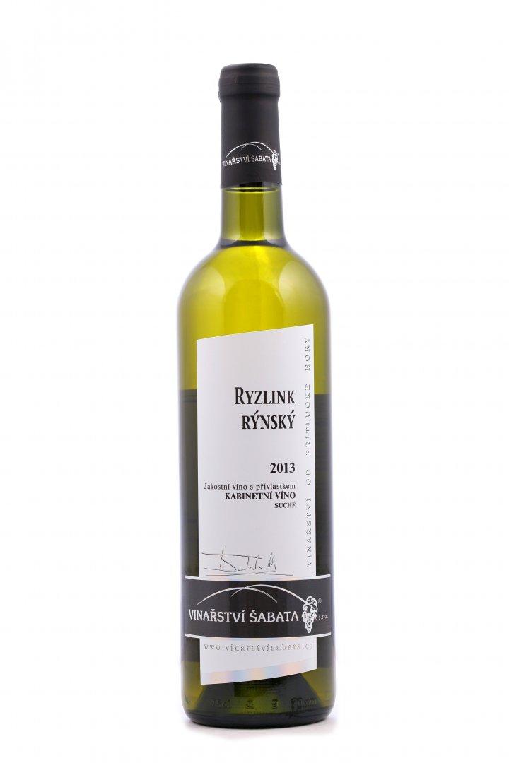 Vinařství Šabata - Ryzlink rýnský - Kabinetní víno 2013 - 0,75l