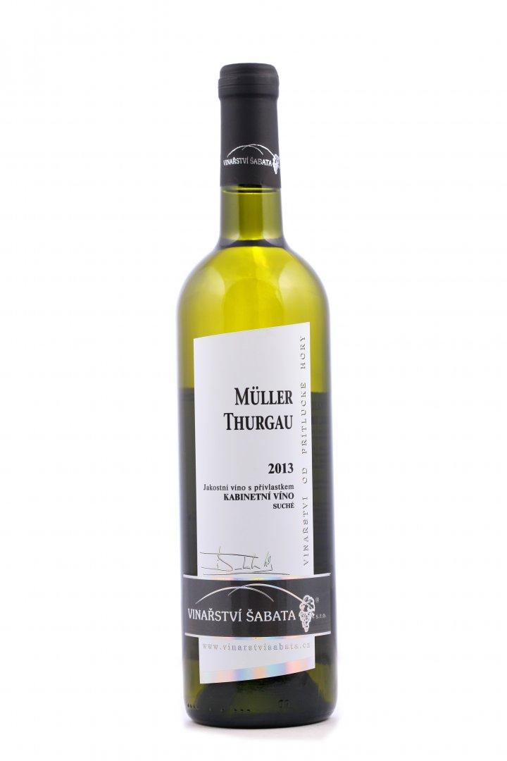 Vinařství Šabata - Müller Thurgau - Kabinetní víno 2013 - 0,75l