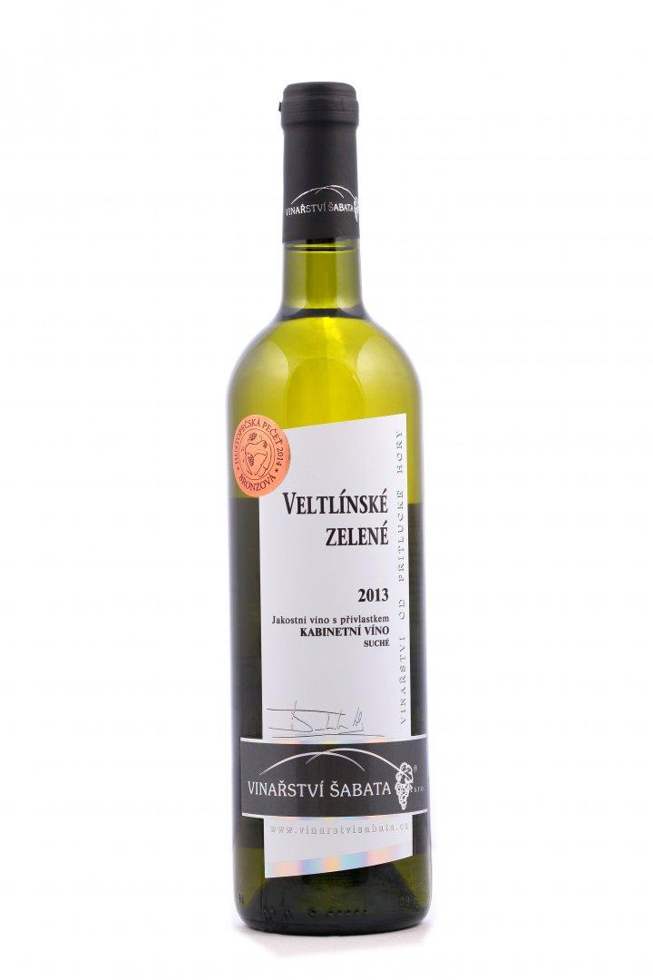 Vinařství Šabata - Veltlínské zelené - Kabinetní víno 2013 - 0,75l
