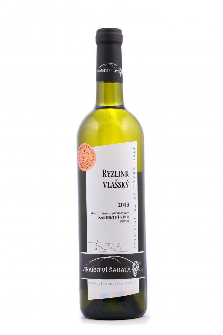 Vinařství Šabata - Ryzlink vlašský - Kabinetní víno 2013 - 0,75l