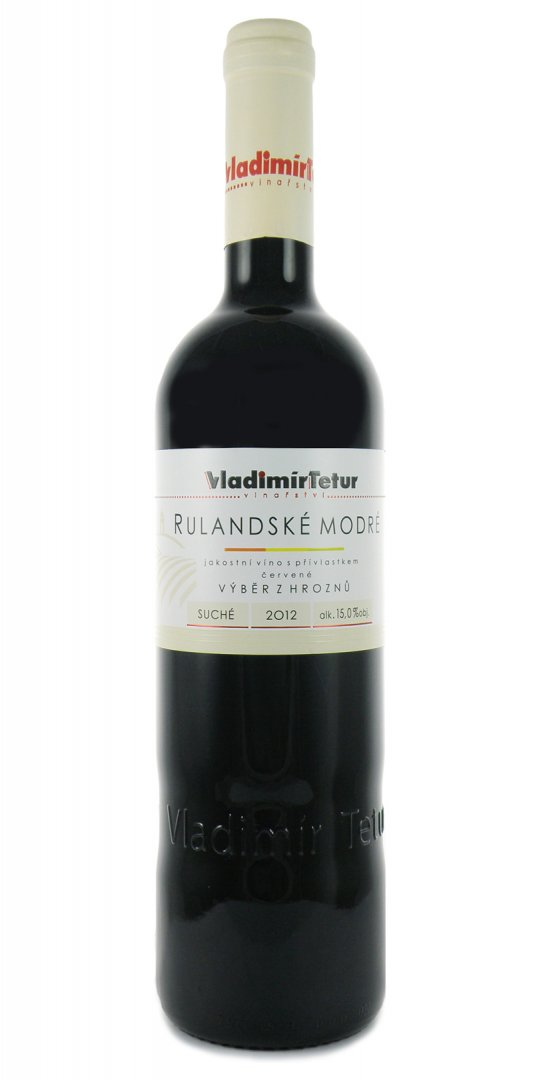 Vinařství Vladimír Tetur - Rulandské modré - Výběr z hroznů 2012 - 0,75l (balení 6 lahví)