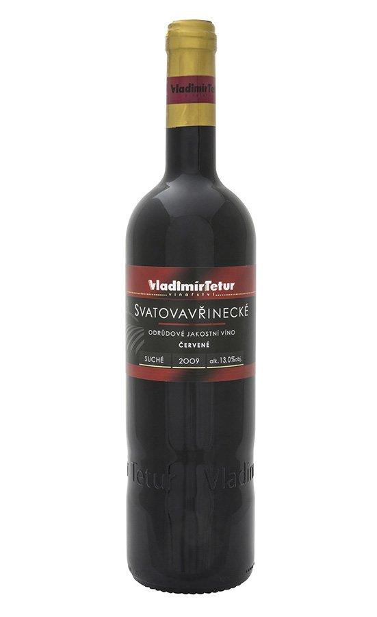 Vinařství Vladimír Tetur - Svatovavřinecké - Jakostní víno 2009 - 0,75l (balení 6 lahví)