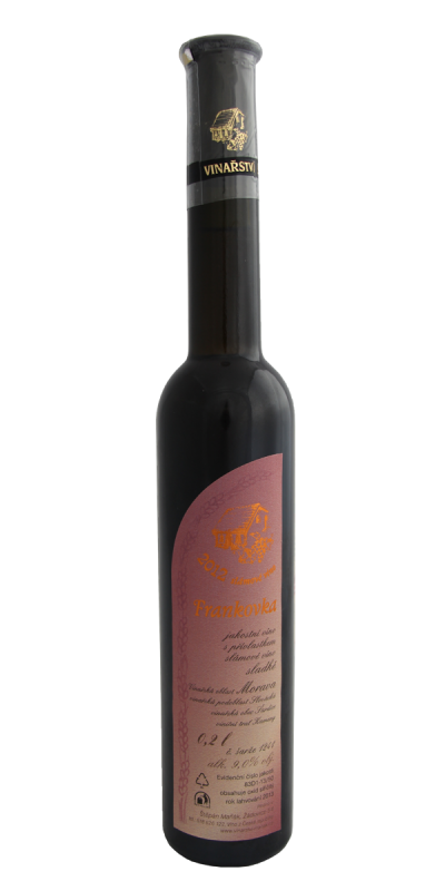 Vinařství Štěpán Maňák - Frankovka - Slámové víno 2012 - 0,2l