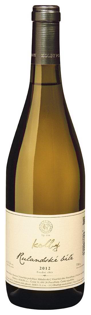 Kolby - Rulandské bílé - Pozdní sběr 2012 - 0,75l
