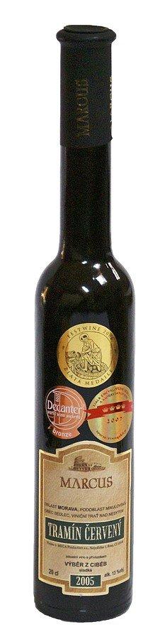 Vinařství Marcus - Tramín červený - Výběr z cibéb 2005 - 0,2l (balení 6 lahví)