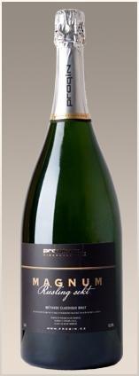 PROQIN - MAGNUM Riesling Sekt - Šumivé víno stanovené oblasti (sekt s.o.) - 1,5l (balení 6 lahví)