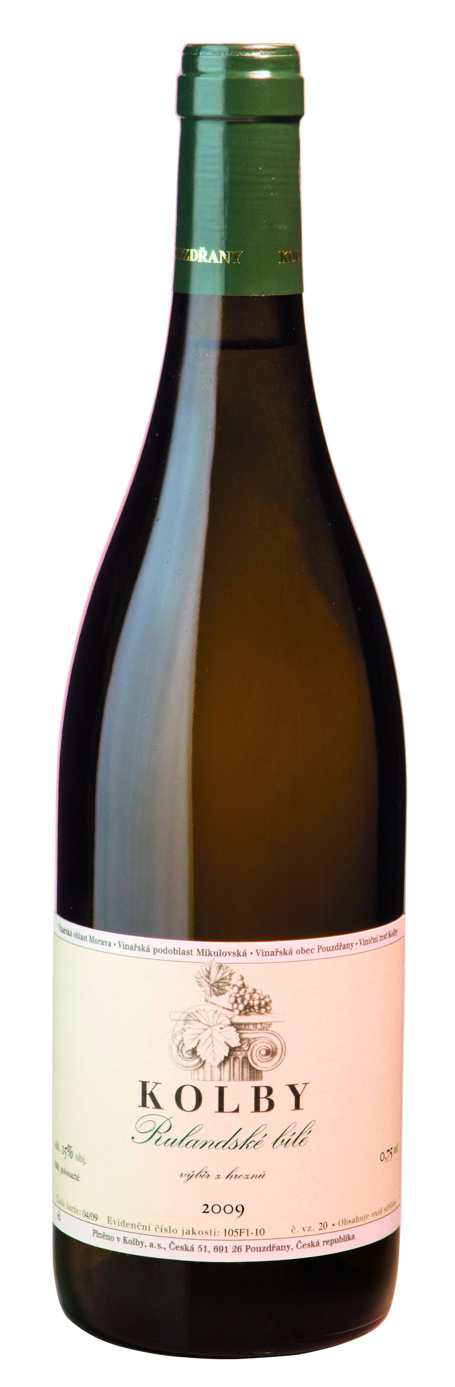 Kolby - Rulandské bílé - Výběr z hroznů 2009 - 0,75l