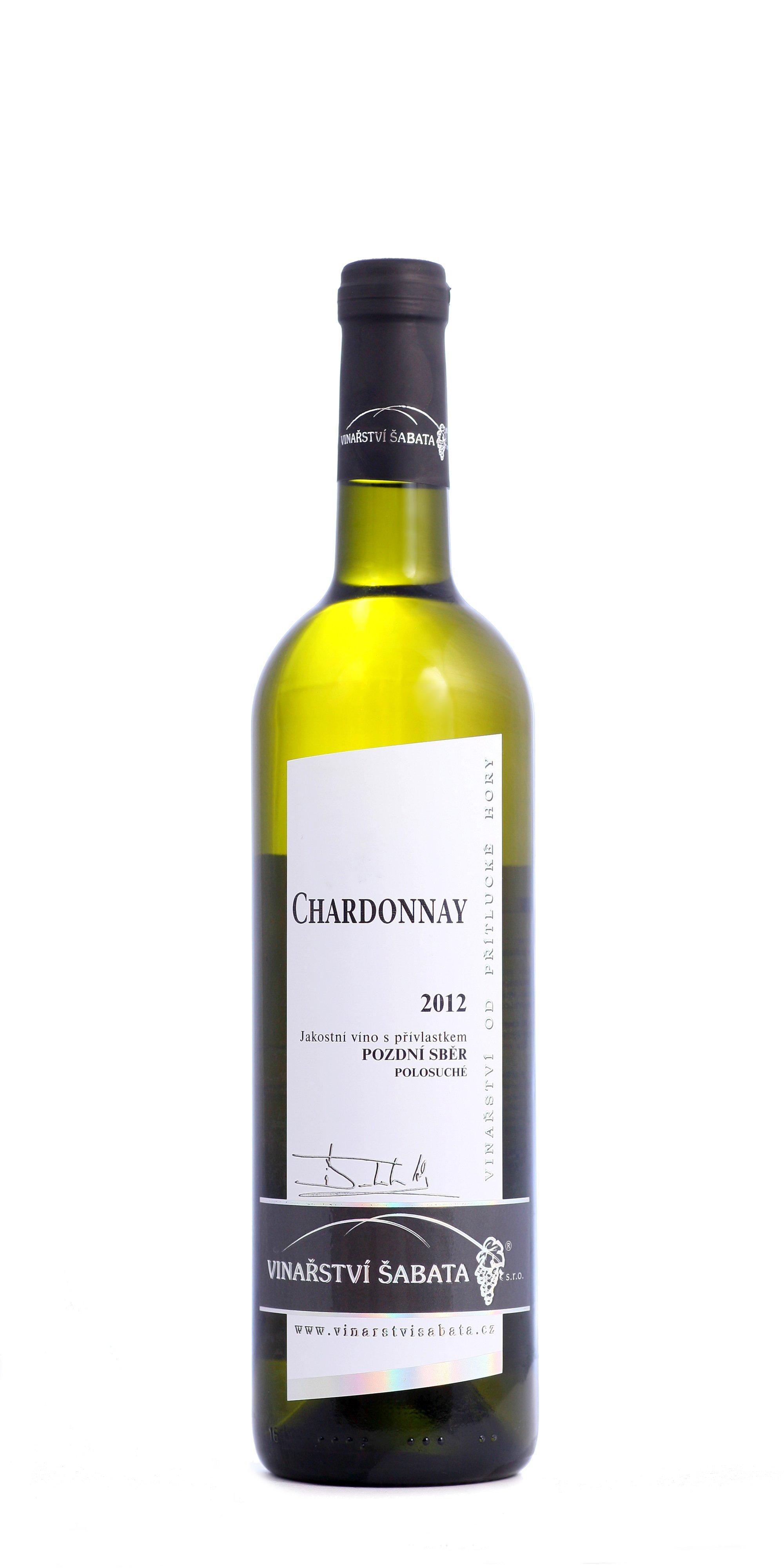 Vinařství Šabata - Chardonnay - Pozdní sběr 2012 - 0,75l