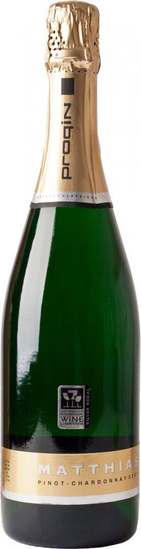 PROQIN - MATTHIAS Pinot Chardonnay sekt - Šumivé víno stanovené oblasti (sekt s.o.) - 0,125l